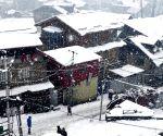 Fresh snowfall on J&K mountains