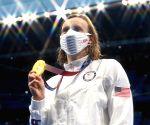 Kathleen Ledecky wins gold as women's 1500m freestyle makes Olympic debut