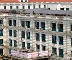 NEPAL KATHMANDU SINGHADURBAR CHINA AID SOLAR POWER