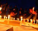 NEPAL KATHMANDU CHAPECOENSE PLANE CRASH CANDLE LIGHT VIGIL