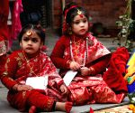 NEPAL KATHMANDU CULTURE BEL BIBAHA CEREMONY
