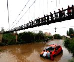 NEPAL KATHMANDU RAIN STUCK CAR