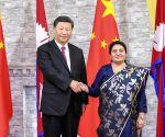 NEPAL KATHMANDU CHINA XI JINPING BIDYA DEVI BHANDARI MEETING