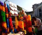 NEPAL KATHMANDU TIHAR FESTIVAL PREPARATION