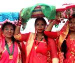 NEPAL KATHMANDU THARU COMMUNITY JITIYA FESTIVAL