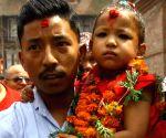 NEPAL KATHMANDU NEW LIVING GODDESS KUMARI