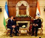 Kazakhstan (Astana): Modi meets Uzbek President