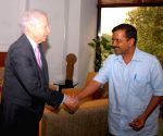 US Ambassador Kenneth Ian Juster meeting Arvind Kejriwal