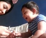 'KGF' star Yash's toddler son giggles during nail trim from mom Radhika; video goes viral