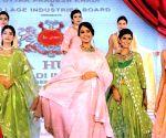 Khadi in bridal wear fashion show says its all