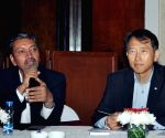 Manohar Bhat, Yong S Kim's press conference