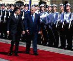 UKRAINE KIEV UKRAINE PRESIDENT ISRAELI PM MEETING