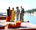 Sweden King Carl XVI Gustaf and Queen Silvia in Rishikesh