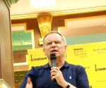 King of racy fiction Jeffrey Archer at the launch of his book in Mumbai.