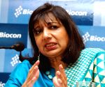 Biocon chief Kiran Shaw declared EY entrepreneur of 2019