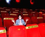 Free Photo: Kirti Kulhari watches film on big screen as mark of support to cinema halls