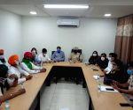 Free Photo: Kisan Morcha meeting with Haryana administration.