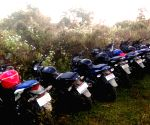 Security forces recover eight bike, and a car fro Assam forest