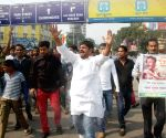 Congress activists protest
