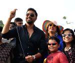 """Deb during """"Kolkata Kite Carnival 2014"""""""