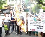AIDYO demonstration against singer Abhijeet