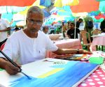 Alipore Jail prisoners paint pictures at an art exhibition