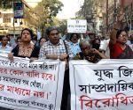 Rights activists rally attacked in Kolkata