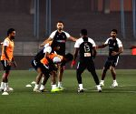 Atletico de Kolkata players during a practice session