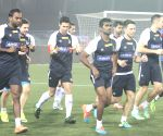 Atletico de Kolkata during a practice session
