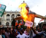 BJYM activists stage a demonstration against WB Government