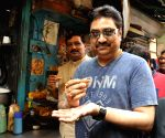 BJP leader and singer Kumar Sanu at party office