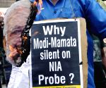 Congress workers demonstrate against PM Modi
