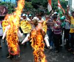 Congress demonstration against Sushma