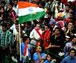 People glued to giant screen during India-Australia World Cup semifinals