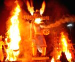 Ravana effigies burnt on Dussehra