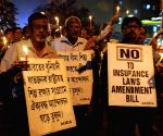 Demonstration against amendments in insurance laws
