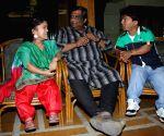 Kaushik Ganguli with Dulal Sarkar during a programme