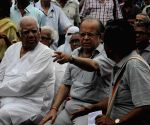 Somnath Chatterjee, Ashok Ganguly at Save Democracy Forum programme