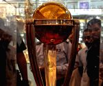 ICC Cricket World Cup trophy on display