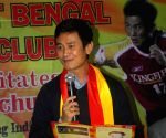 Bhaichung Bhutia being felicitated by East Bengal F C
