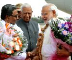 Modi arrives in Bengaluru