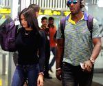 Kolkata Knight Riders at Kolkata Airport