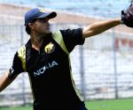 Kolkata Knight Riders player Sourav Ganguly at the practice session at Eden Gardens in Kolkata on Wednesday 25 March 2009.