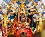 Thousands throng Bengal's Belur Math as Durga Puja spirit peaks