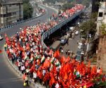 Left, Cong trade unions' march ends with big Kolkata rally