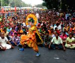 Trade Unions protest against WB Government