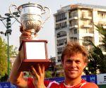 Radu Albot wins Emami Kolkata Open 2015- ATP Challenger singles trophy