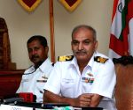 Navy press conference aboard INS Netaji Subhash