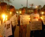 Demonstration against lynching of an alleged rapist in Dimapur