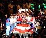 ISL Trophy celebrations